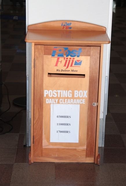 Posting box in the terminal building, Nadi Airport.