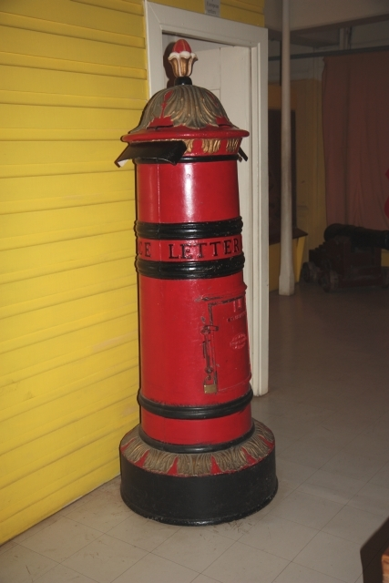 Old pillar box at the Fiji Museum, Suva