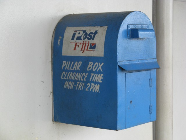Posting box at Nausori (Suva) Airport