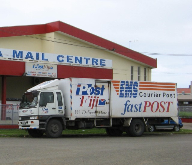 Post Fiji lorry