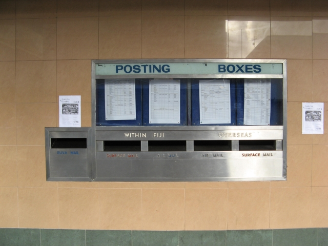 Posting boxes at Suva GPO
